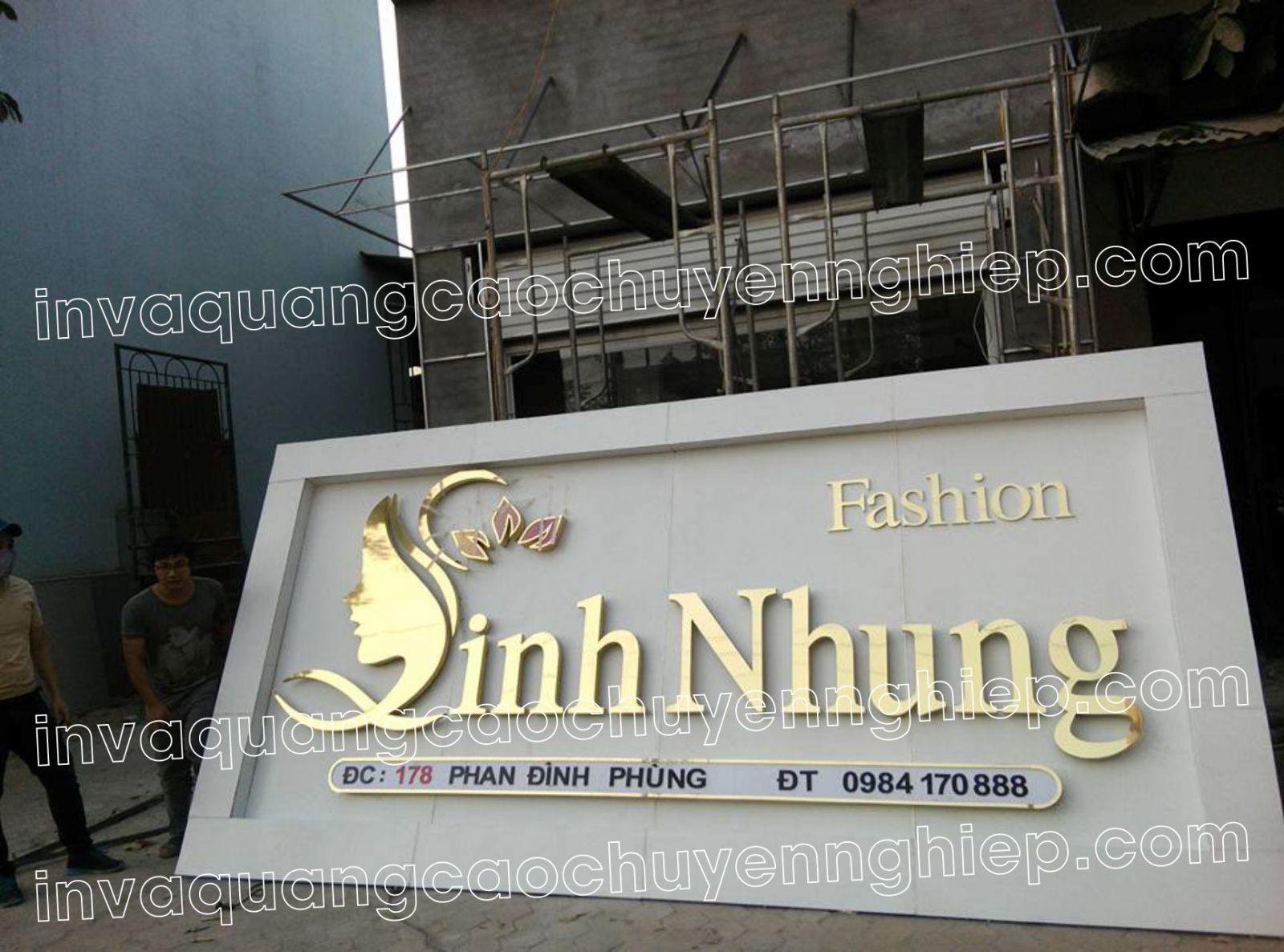 bảng hiệu chữ inox đẹp tại Đà Nẵng