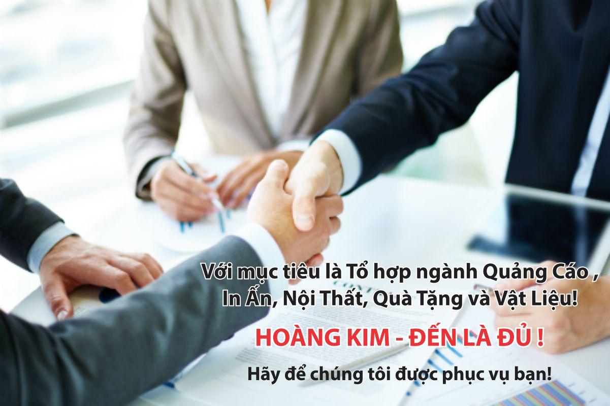 hợp tác cùng thắng với quảng cáo Hoàng Kim