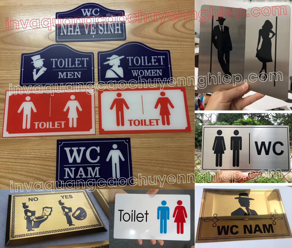 Biển toilet- biển WC, Biển nhà vệ sinh